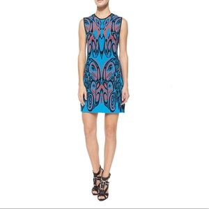 NWT♥️ RVN Haida A-Line Mini Dress Coral/Turquoise